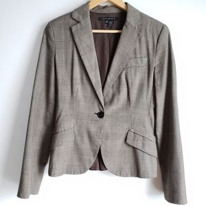 Zara Pleated Brown Blazer Size Medium.